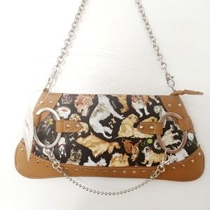 Sydney Love Cats and Dogs Pinscher Clutch NEW